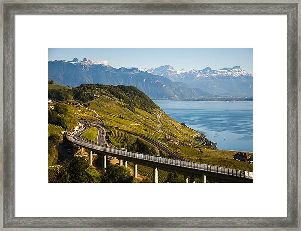 Lausanne To Montreux Framed Print