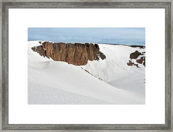 Lava Cliffs Overlook Seen From Trail Framed Print