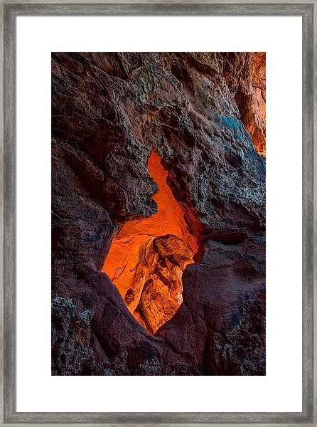 Lava Glow Framed Print
