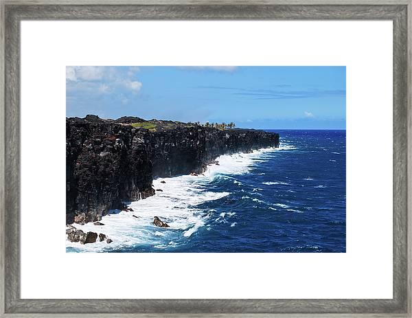 Lava Shore Framed Print