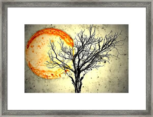 Lava Sky Framed Print