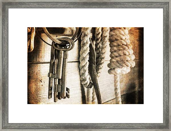 Law And Order Framed Print