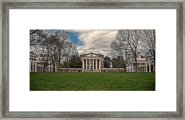 Lawn And Rotunda At University Of Virginia Framed Print