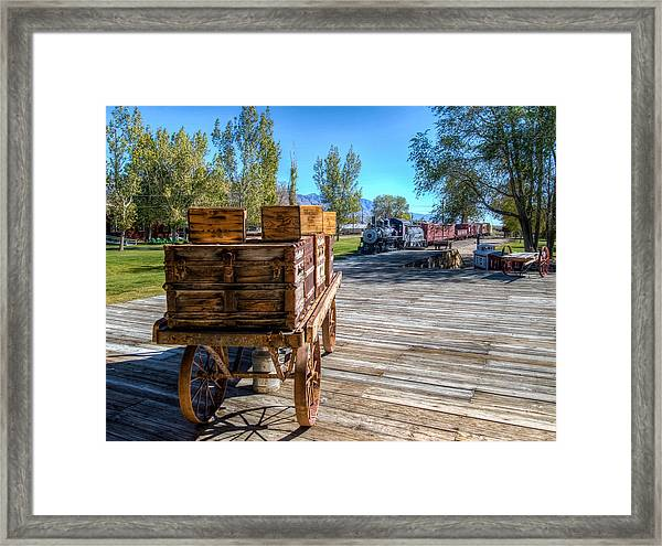 Laws Station Framed Print