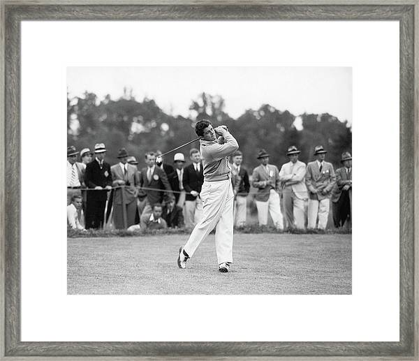 Lawson Little Teeing Off Framed Print