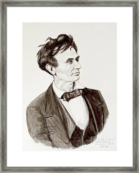 Lawyer Abe Lincoln  Framed Print