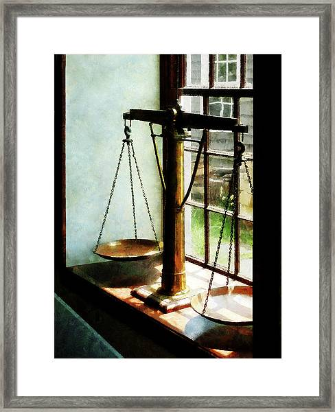 Lawyer - Scales Of Justice Framed Print