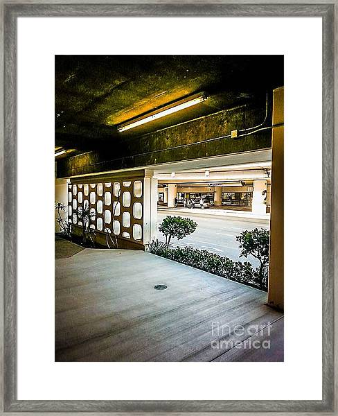 Lax Parking-lot Framed Print