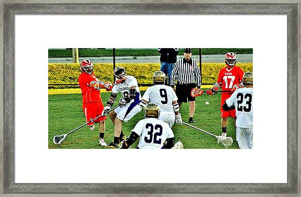 Lax Toughness Framed Print