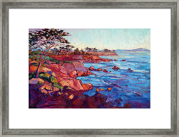 Layers Of Monterey Framed Print