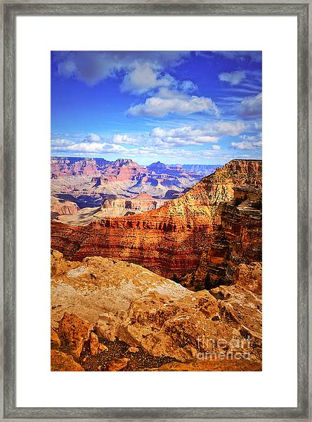 Layers Of The Canyon Framed Print