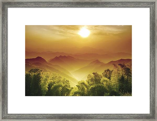 Layers Of Zhejiang (china) Framed Print by Andy Brandl