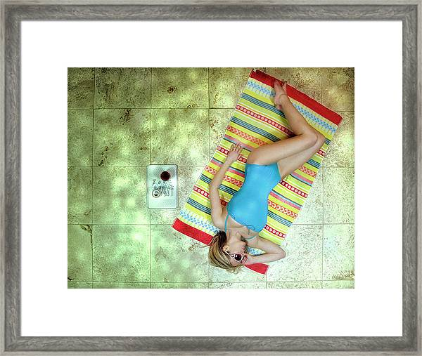 Lazing By Hockney\'s Swimming Pool Framed Print
