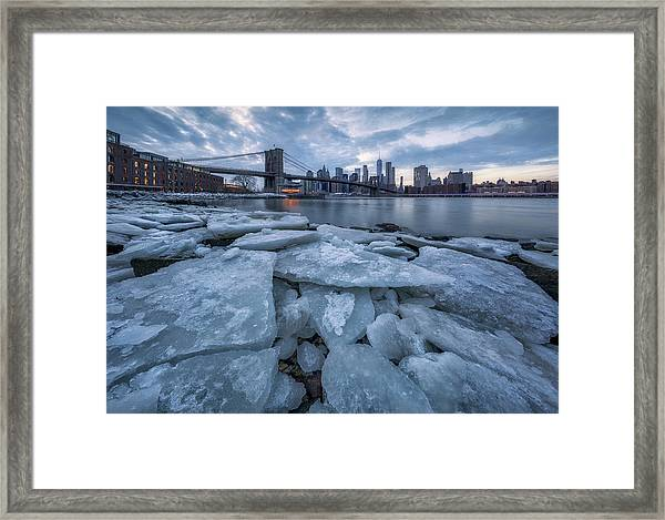 Lce City Framed Print by Jie Chen