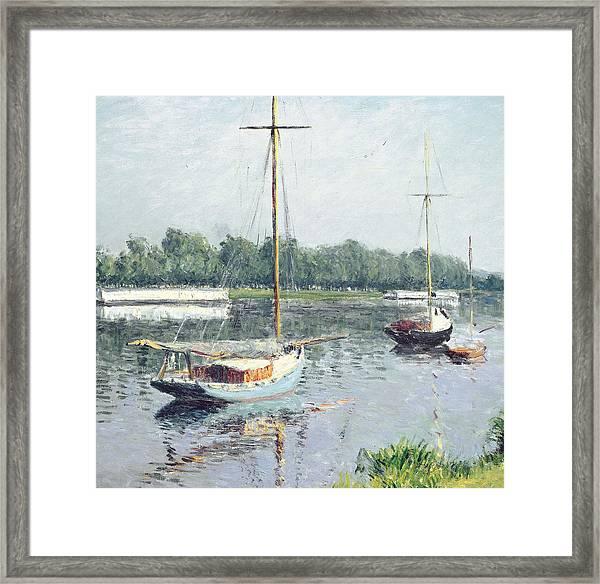 Le Bassin D'argenteuil Framed Print