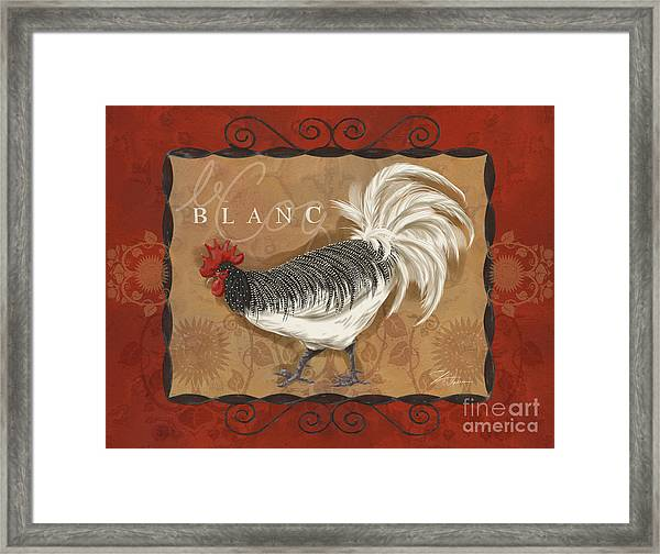 Le Coq Rooster Blanc Framed Print