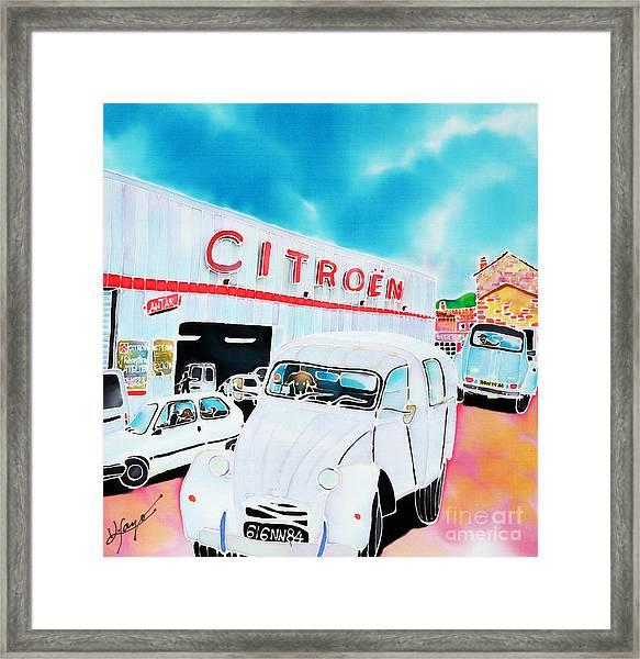 Le Garage Framed Print