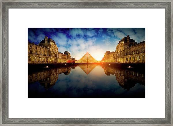Le Louvre Framed Print