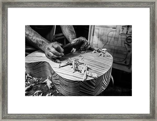 Le Luthier Framed Print by Manu Allicot
