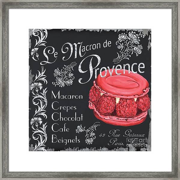 Le Macron De Provence Framed Print