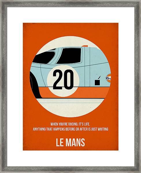 Le Mans Poster Framed Print