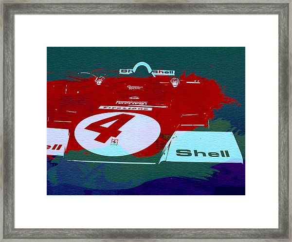 Le Mans Racing Car Detail Framed Print