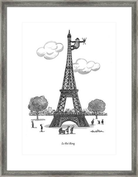 Le Roi Kong Framed Print