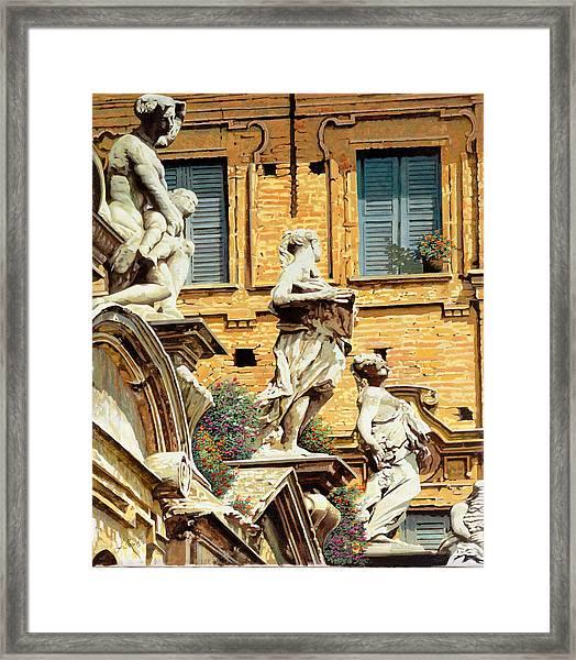 Le Statue Framed Print