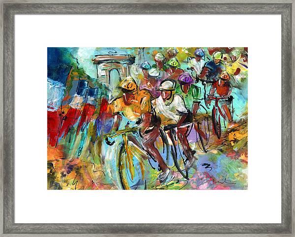 Le Tour De France Madness 02 Framed Print