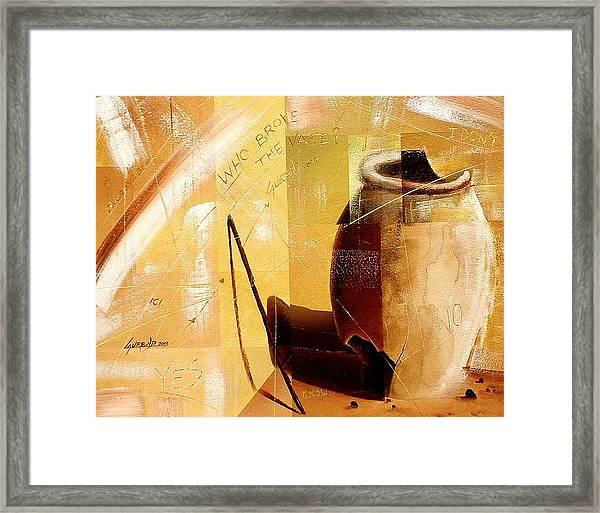 Le Vase Framed Print by Laurend Doumba