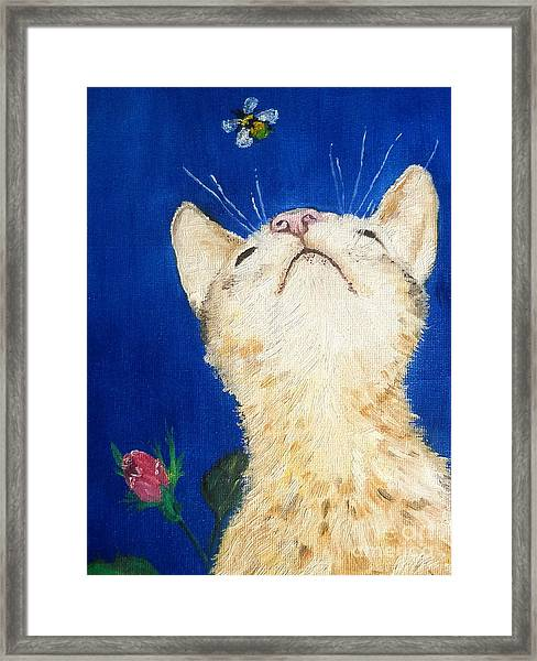 Lea And The Bee Framed Print
