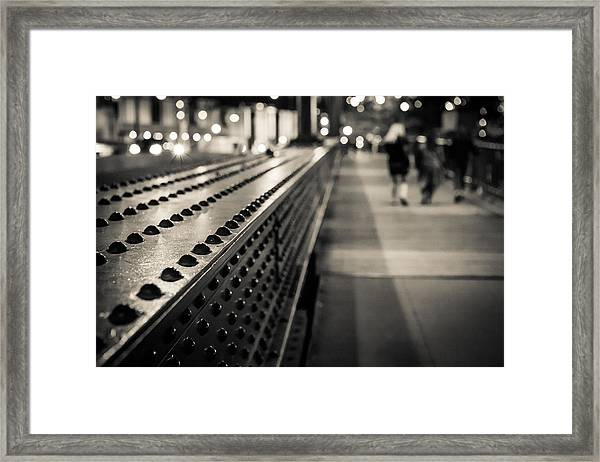 Leading Across Framed Print