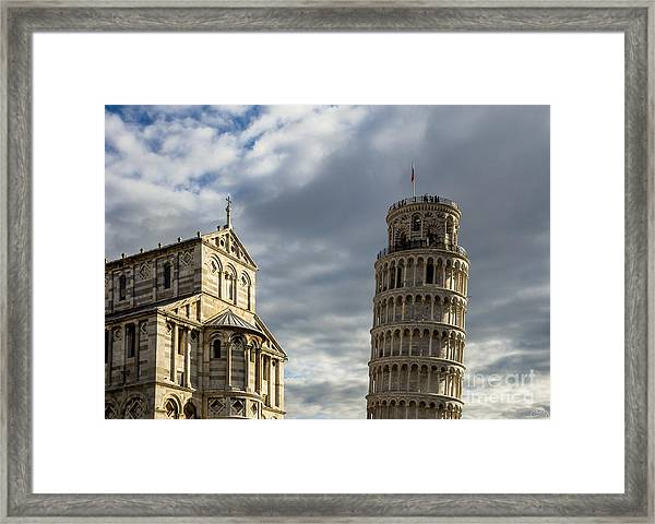 Leaning Tower And Duomo Di Pisa Framed Print