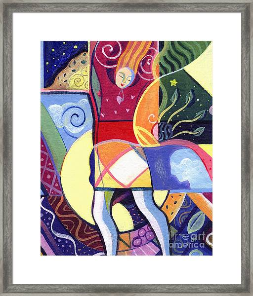 Leaping And Bouncing Framed Print