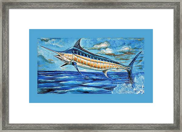 Leaping Marlin Framed Print