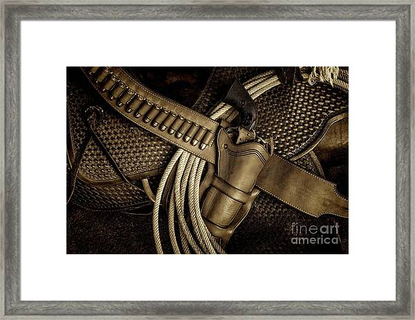 Leather And Lead Framed Print