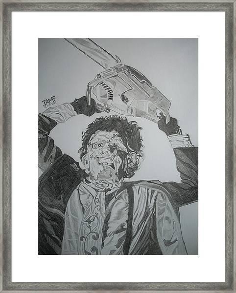 Leatherface Framed Print by Jose Mendez