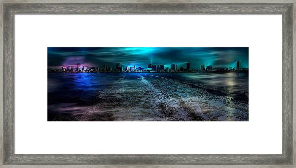 Leaving Long Beach Framed Print
