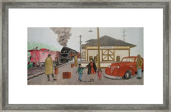 Leaving Sardinia 1944 Framed Print
