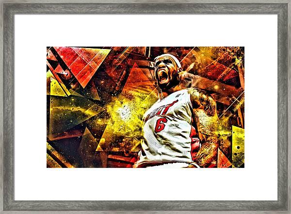 Lebron James Art Poster Framed Print