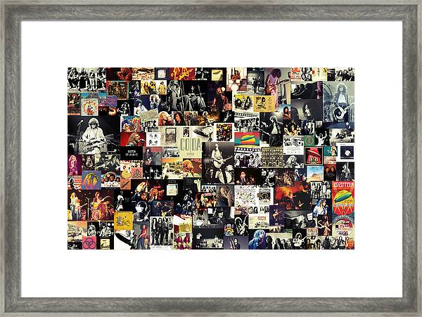 Led Zeppelin Collage Framed Print