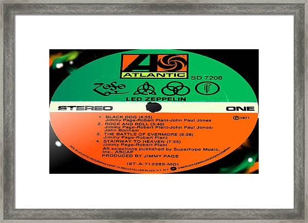 Led Zeppelin Iv Side 1 Framed Print