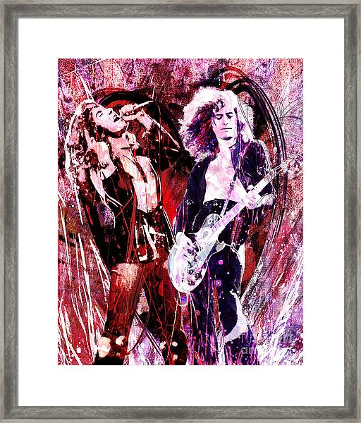 Led Zeppelin - Jimmy Page And Robert Plant Framed Print