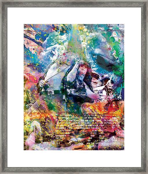 Led Zeppelin Original Painting Print  Framed Print
