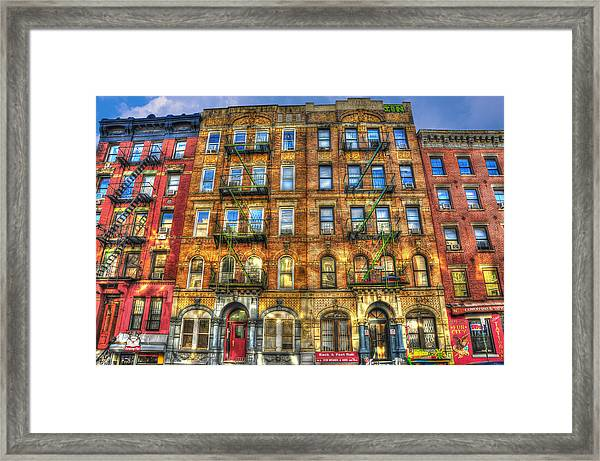 Led Zeppelin Physical Graffiti Building In Color Framed Print