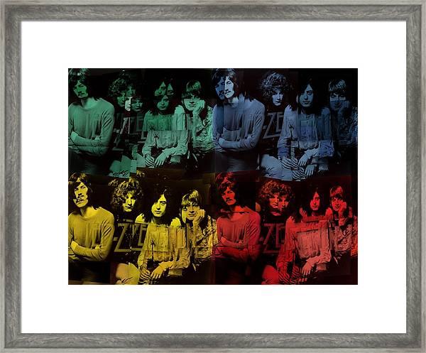 Led Zeppelin Pop Art Collage Framed Print