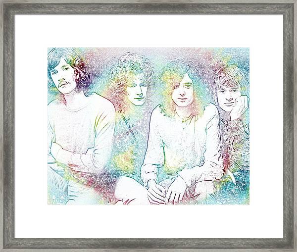 Led Zeppelin Tie Dye Framed Print