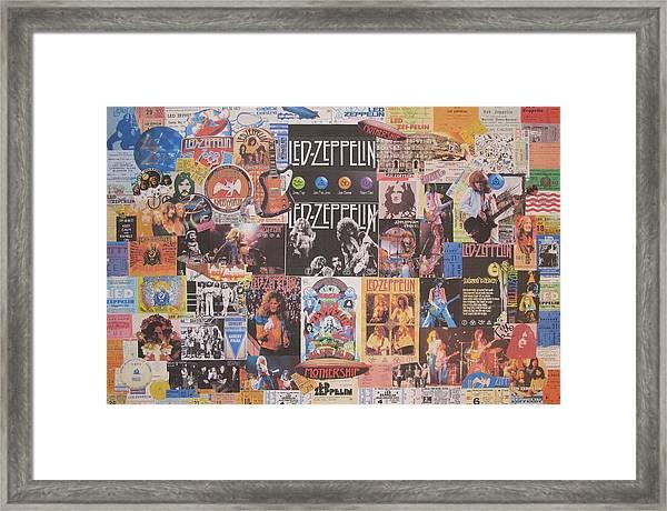Led Zeppelin Years Collage Framed Print