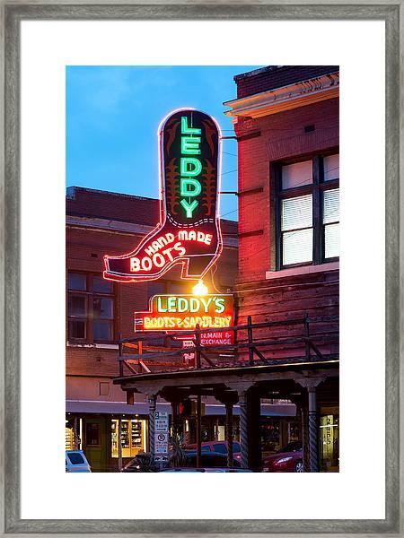 Leddy Hand Made Boots 031315 Framed Print