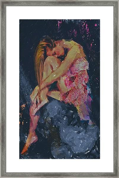 Ledges Emotive Portrait Framed Print